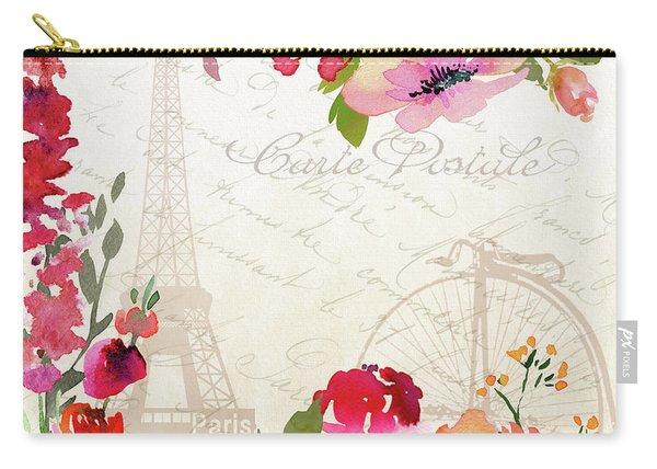 Paris Blossoms B Carry-all Pouch
