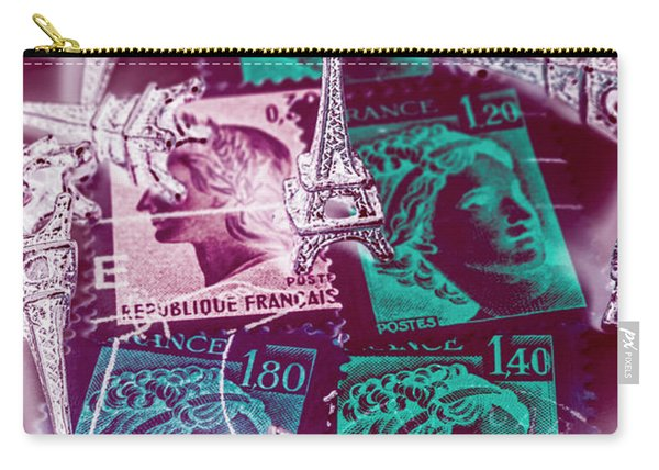 Parisian Postmarks Carry-all Pouch