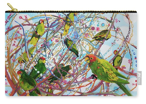Parrot Bramble Carry-all Pouch