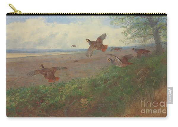 Partridges In Flight, 1907 Carry-all Pouch