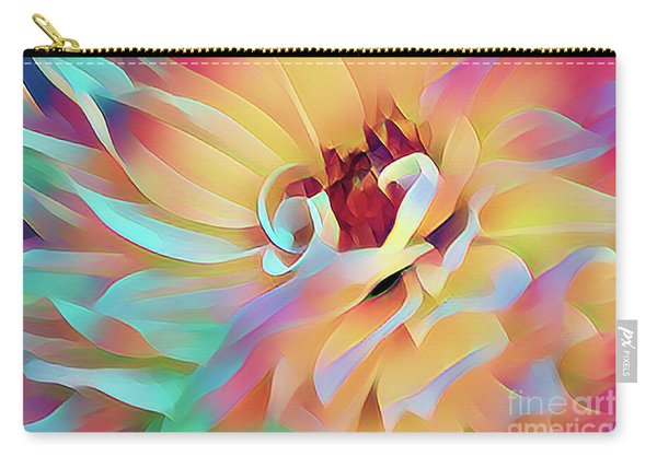 Party Time Dahlia Abstract Carry-all Pouch