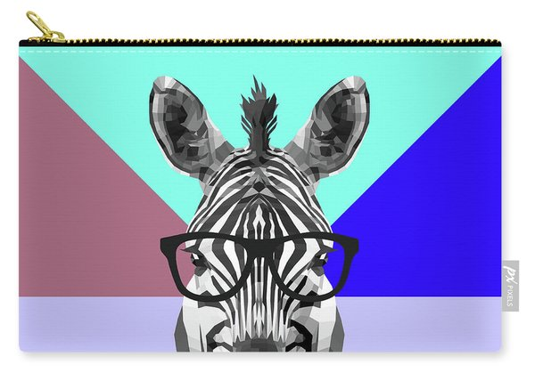 Party Zebra In Glasses Carry-all Pouch