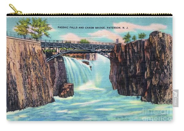 Passaic Falls And Chasm Bridge Paterson N J  Carry-all Pouch