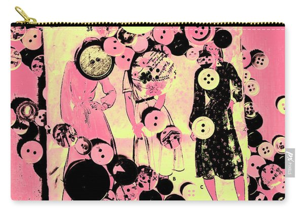 Past Patterns And Bygone Buttons Carry-all Pouch