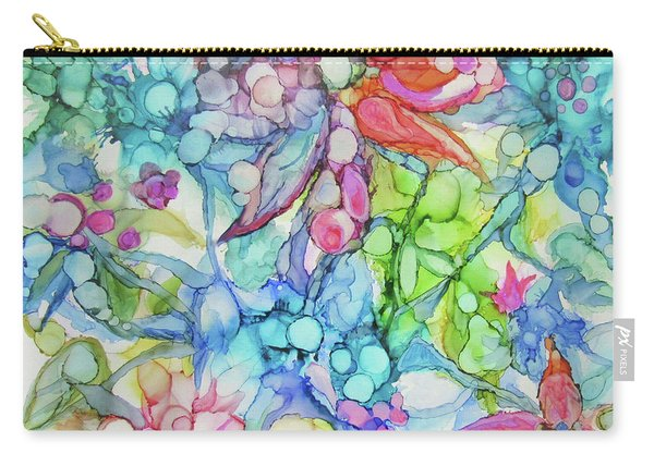 Pastel Flowers - Alcohol Ink Carry-all Pouch