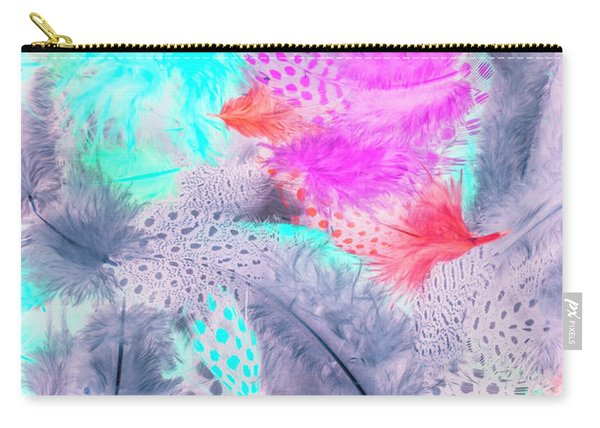 Pastel Plumes Carry-all Pouch
