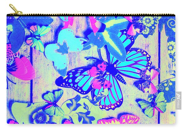 Pastel Wings And Button Butterflies Carry-all Pouch