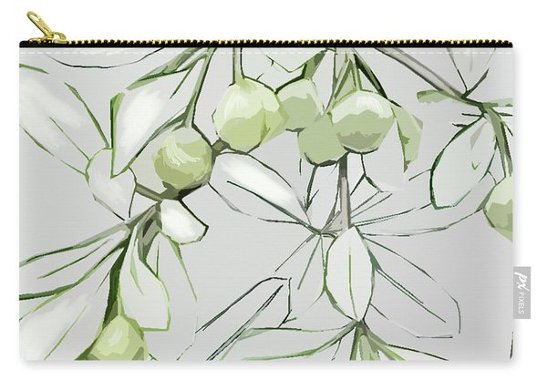 Carry-all Pouch featuring the digital art Patio Print by Gina Harrison