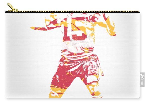 Patrick Mahomes Kansas City Chiefs Apparel T Shirt Pixel Art 1 Carry-all Pouch