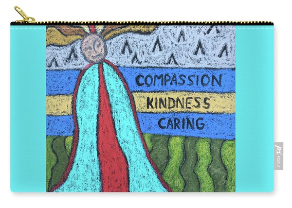 Peace Compassion Kindness Caring Carry-all Pouch