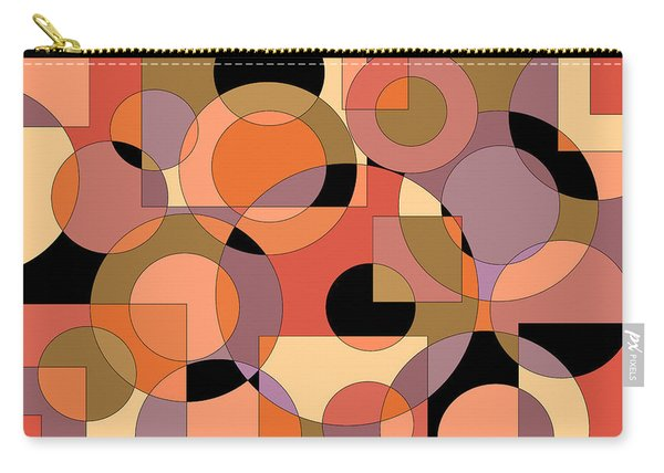 Peach Circle Abstract Carry-all Pouch