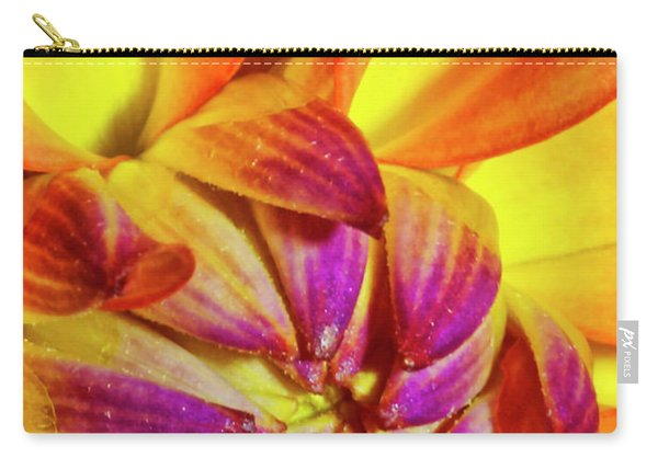 Peach Purple Flower Carry-all Pouch