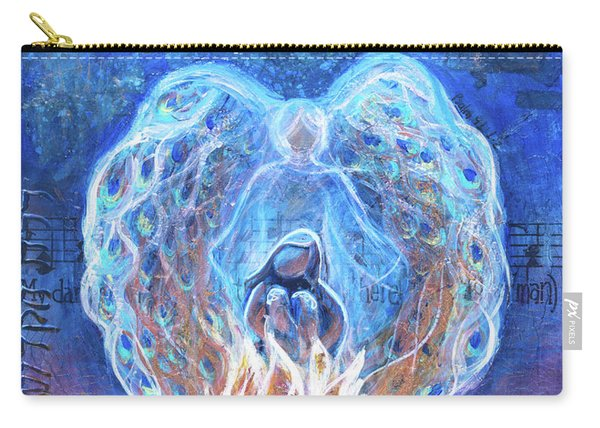 Peacock Angel    Cooler Version Carry-all Pouch