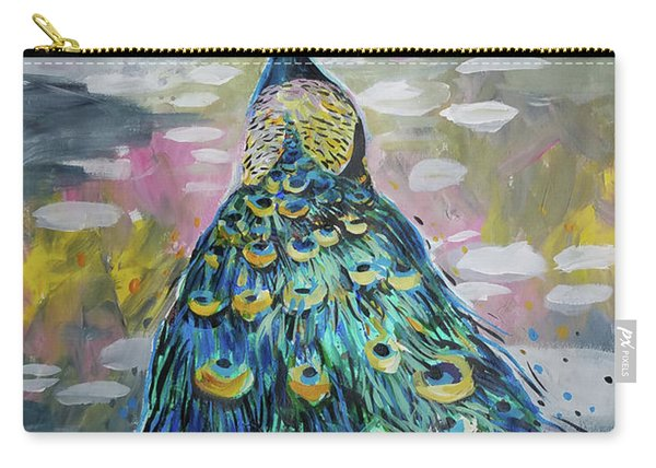 Peacock In Dappled Light Carry-all Pouch