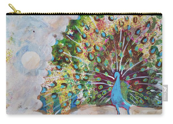 Peacock In Morning Mist Carry-all Pouch