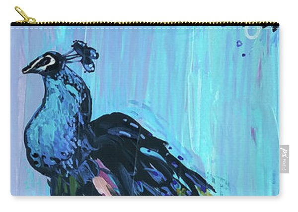 Peacock On A Fence Carry-all Pouch