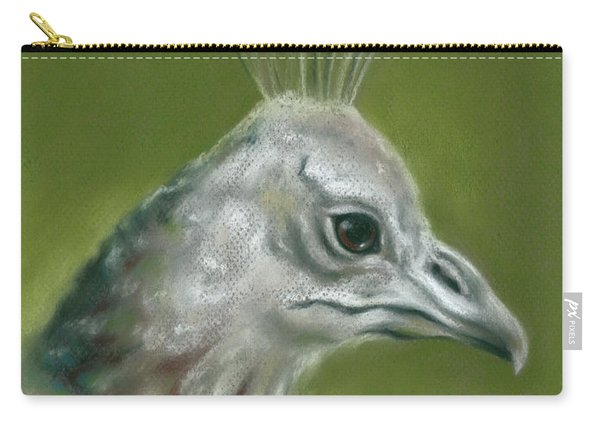 Peahen Portrait Carry-all Pouch