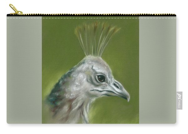 Peahen Portrait Carry-all Pouch