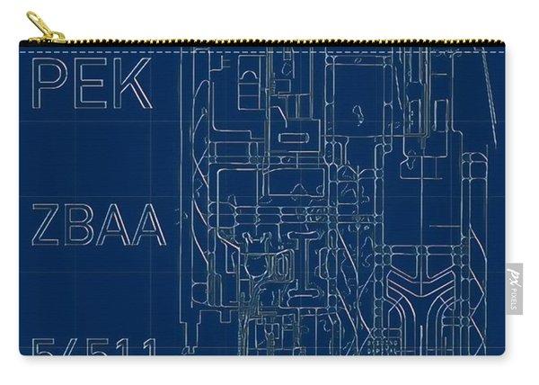 Pek Beijing Capital Airport Blueprint Carry-all Pouch