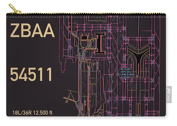 Pek Beijing Capital Airport Carry-all Pouch