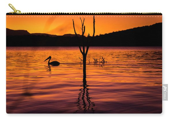 Carry-all Pouch featuring the photograph Pelican by Rob D Imagery