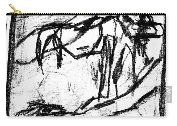 Pencil Squares Black Canine B Carry-all Pouch