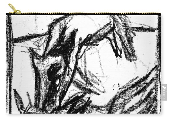 Pencil Squares Black Canine F Carry-all Pouch