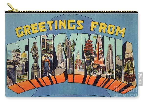 Pennsylvania Greetings Carry-all Pouch