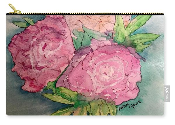 Peonie Roses Carry-all Pouch