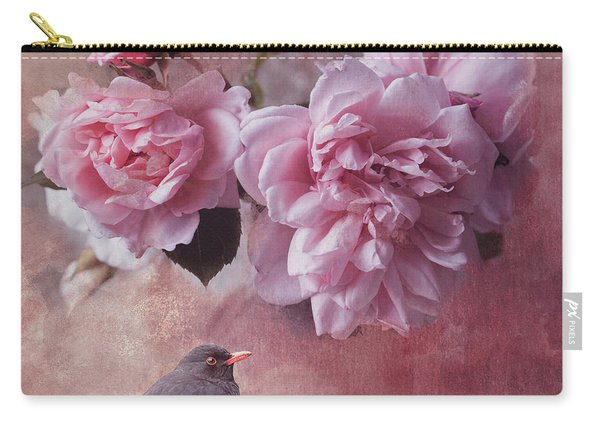 Peonies And Blackbird Carry-all Pouch