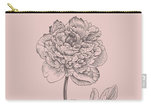 Peony Blush Pink Flower Carry-all Pouch