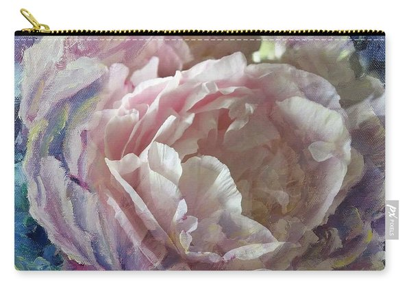 Carry-all Pouch featuring the painting Peony -transparent Petals by Ryn Shell