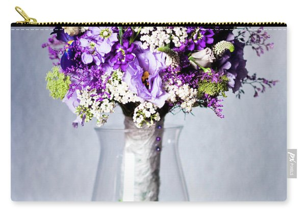 Perfect Bridal Bouquet For Colorful Wedding Day With Natural Flowers. Carry-all Pouch