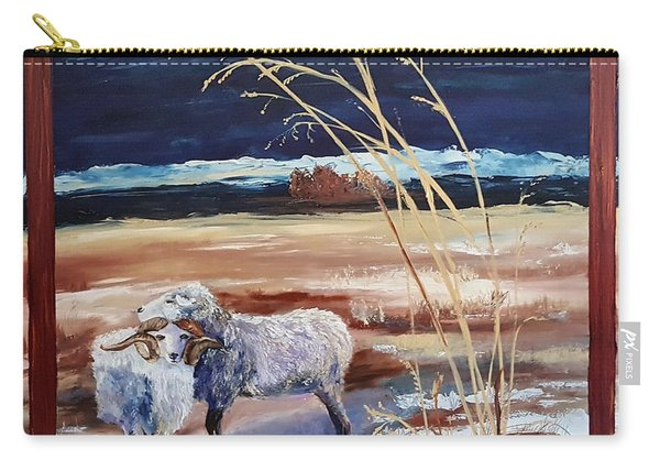 Phil And Alice Navajo Sheep    38 Carry-all Pouch