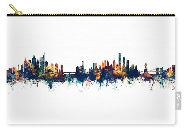 Philadelphia And New York City Skylines Mashup Carry-all Pouch