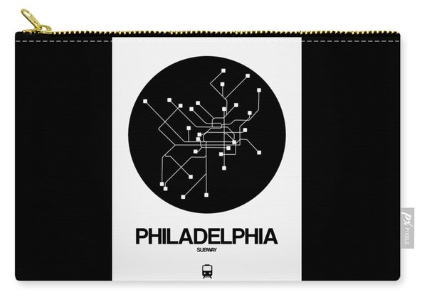Philadelphia Black Subway Map Carry-all Pouch