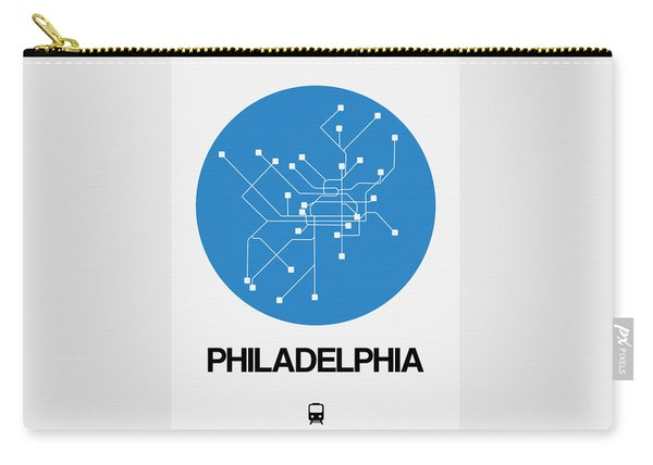Philadelphia Blue Subway Map Carry-all Pouch
