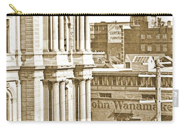 Philadelphia City Hall And Wanamaker Store C 1900 Vintage Photog Carry-all Pouch
