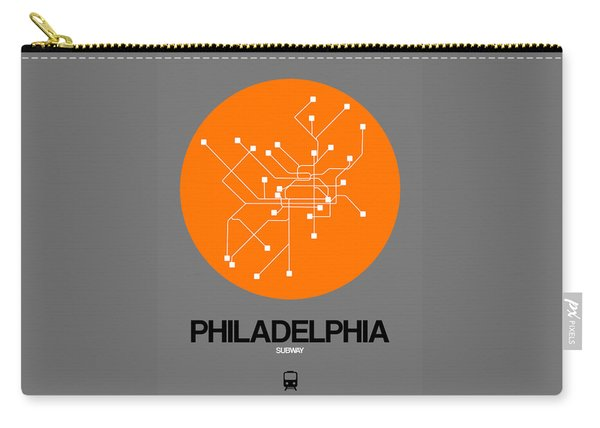 Philadelphia Orange Subway Map Carry-all Pouch