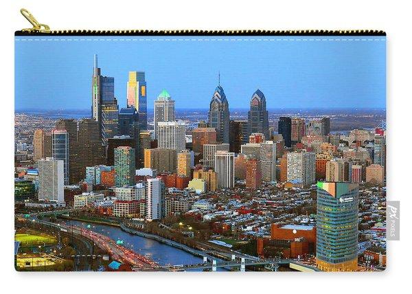Philadelphia Skyline At Dusk 2018 Carry-all Pouch
