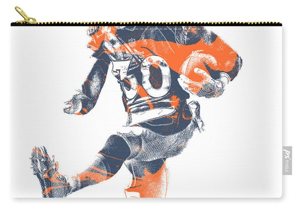 Phillip Lindsay Denver Broncos Pixel Art 2 Carry-all Pouch