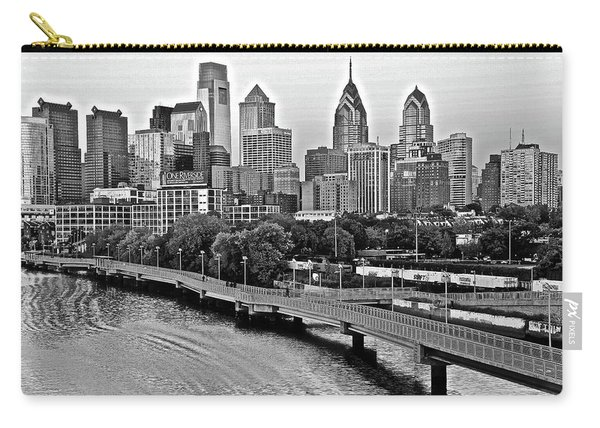 Philly In Charcoal Carry-all Pouch