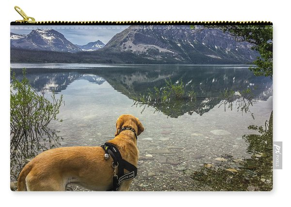 Photo Dog Jackson At Glacier Carry-all Pouch