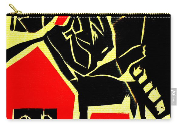 Piano Player Black Ivory Woodcut Poster 31 Carry-all Pouch