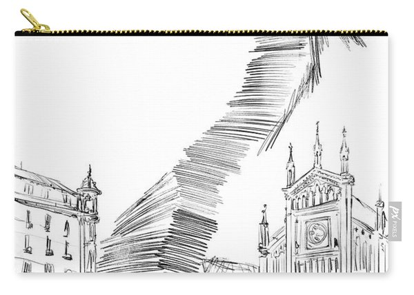 Piazza Benefica Drawing Carry-all Pouch