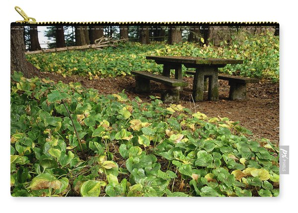 Picnic  Table In The Forest  Carry-all Pouch
