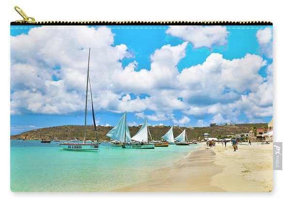 Picture Perfect Day For Sailing In Anguilla Carry-all Pouch