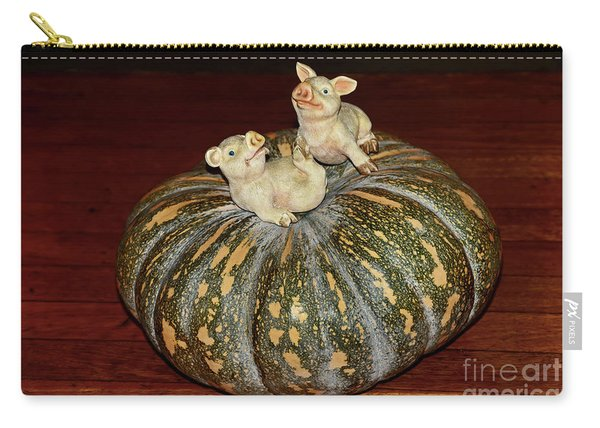 Pigs On Pumpkin By Kaye Menner Carry-all Pouch