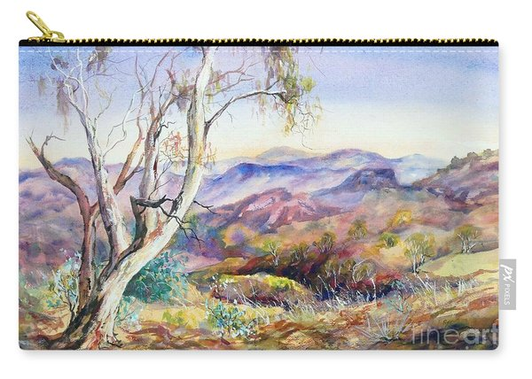 Carry-all Pouch featuring the painting Pilbara, Hamersley Range, Western Australia. by Ryn Shell