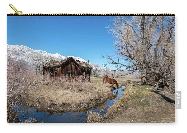 Pine Creek Horse Drinking Carry-all Pouch